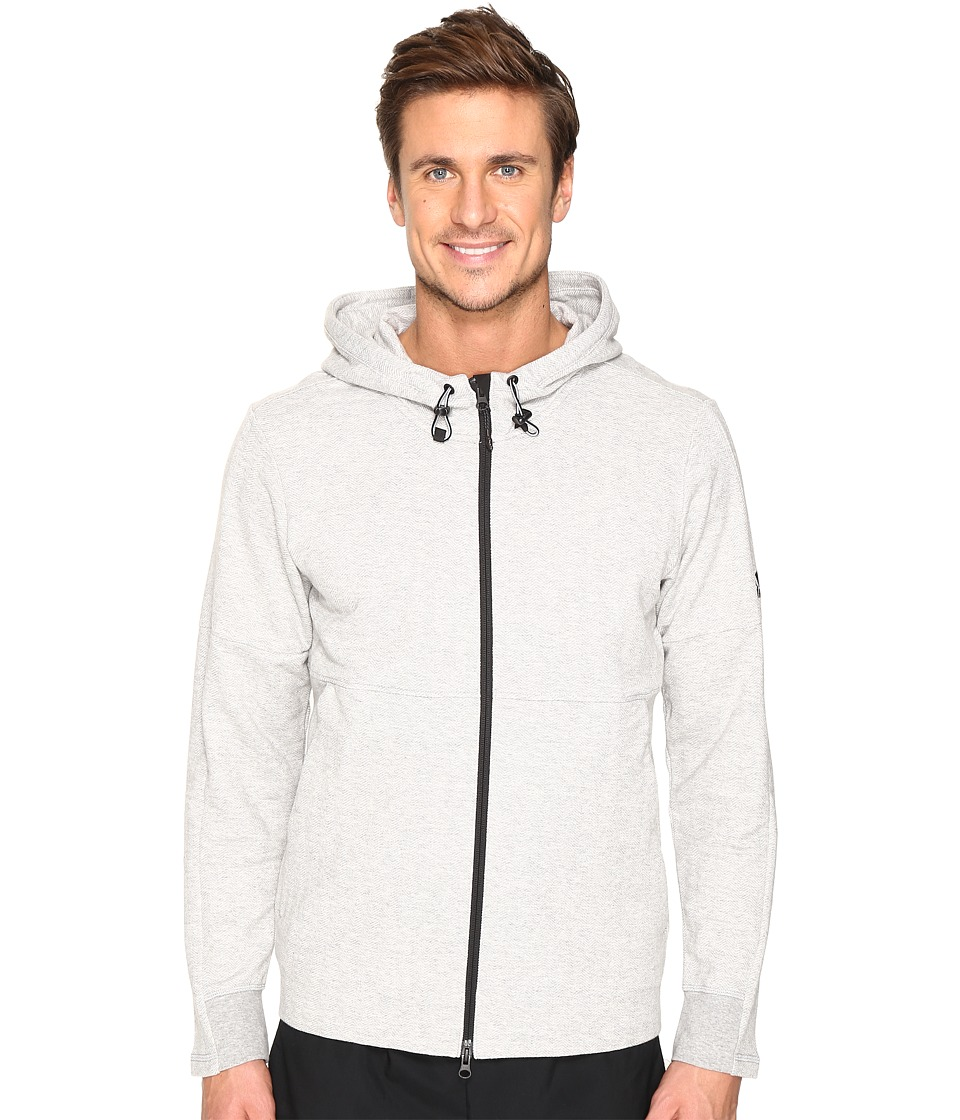 adidas - Sport ID French Terry Full Zip Hoodie (Medium Grey Heather) Men's Sweatshirt