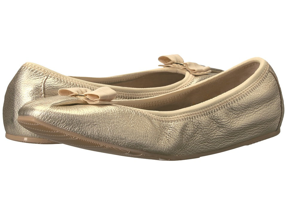 Salvatore Ferragamo - Nappa Flex Ballerina Flat (Platino Capra Mokes) Women's Slip on Shoes