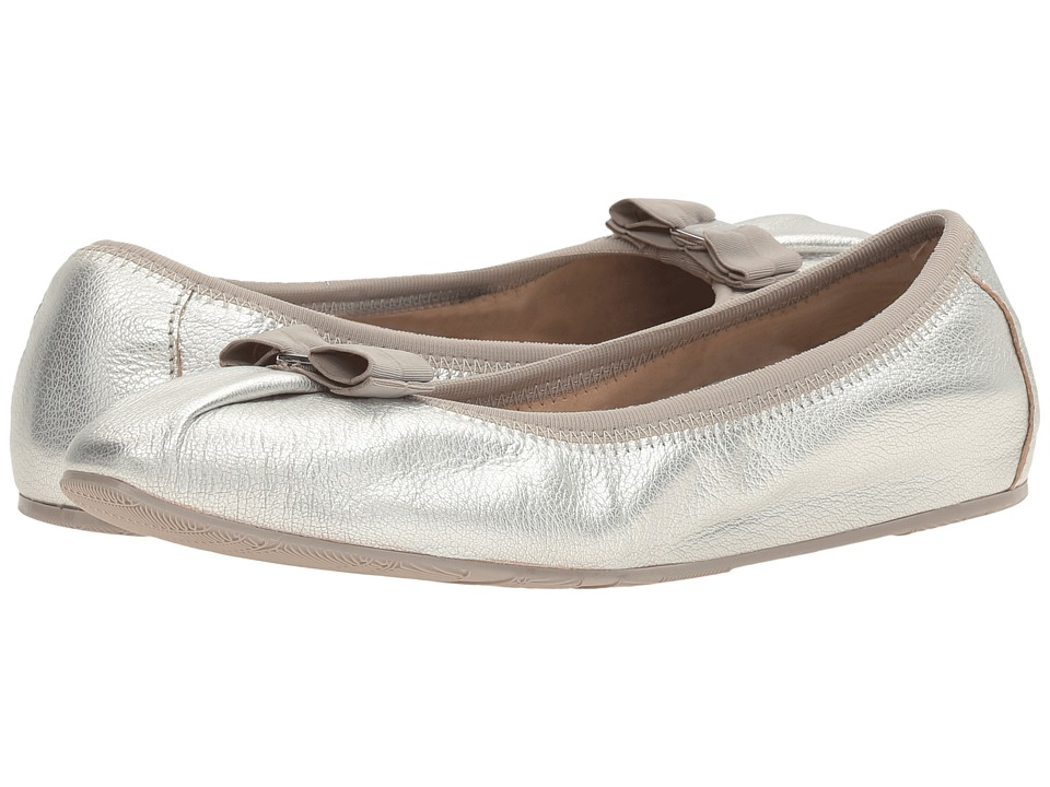 Salvatore Ferragamo - Nappa Flex Ballerina Flat (Argento Capra Mokes) Women's Slip on Shoes