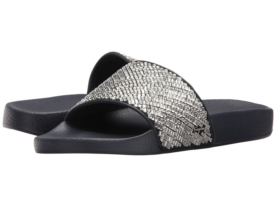 Salvatore Ferragamo - PVC Pool Slide With Crystals (Crystal Tomaio Stras) Women's Shoes
