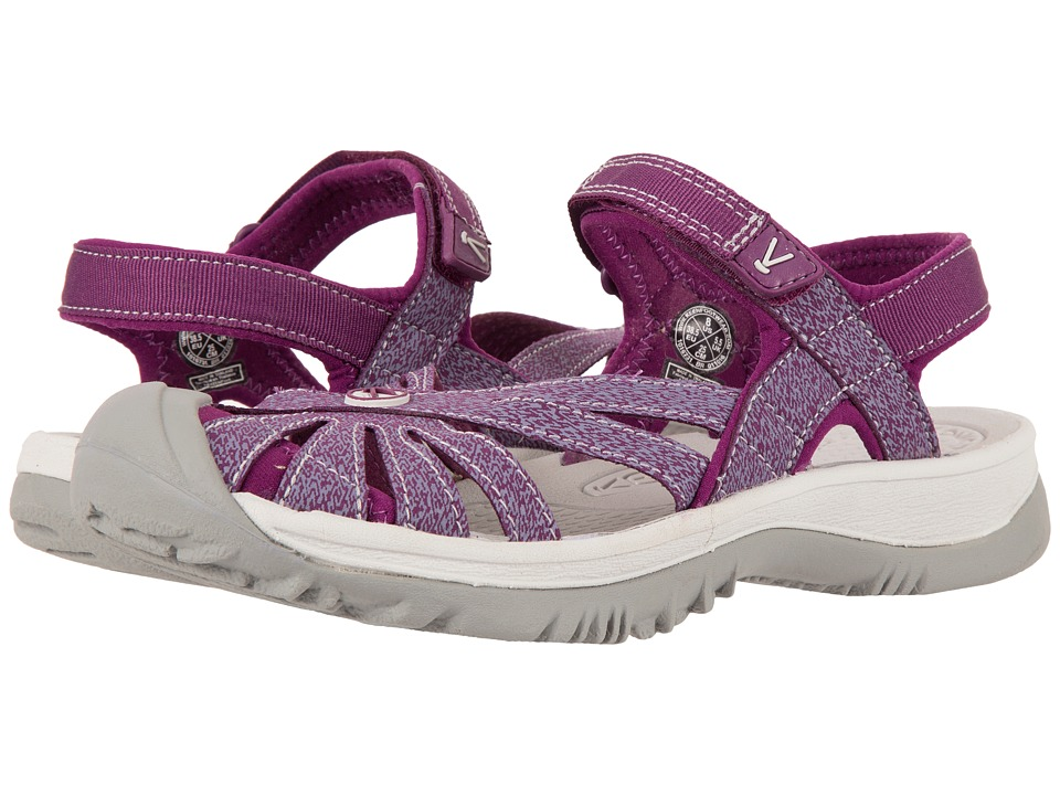 Keen - Rose Sandal (Dark Purple/Purple Sage) Women's Shoes