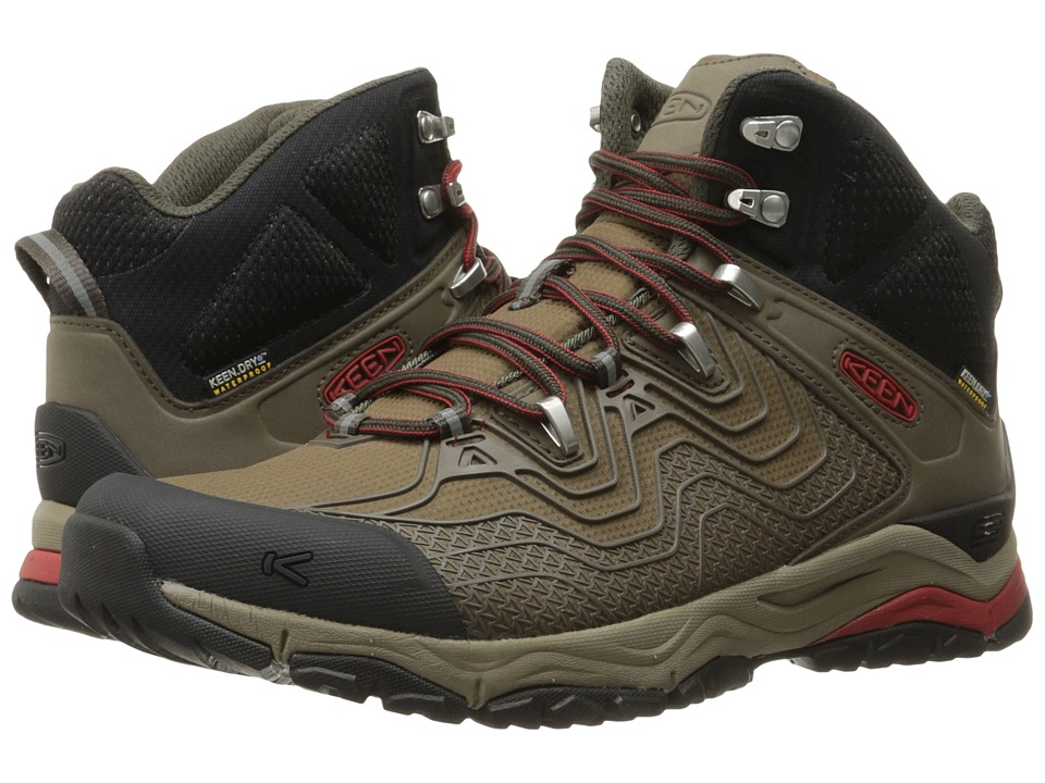 Keen - Aphlex Mid Waterproof (Black Olive/Bossa Nova) Men's Waterproof Boots
