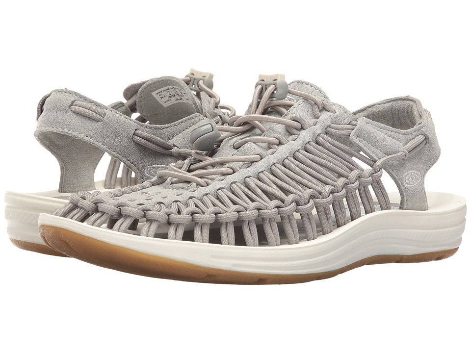 Keen - Uneek (Neutral Gray/White) Women's Toe Open Shoes