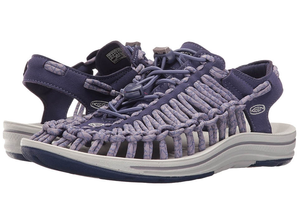 Keen - Uneek (Crown Blue/Purple Sage) Women's Toe Open Shoes