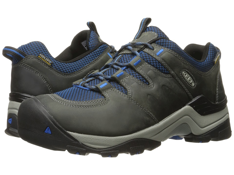 Keen - Gypsum II Waterproof (Neutral Gray/Imperial Blue) Men's Shoes