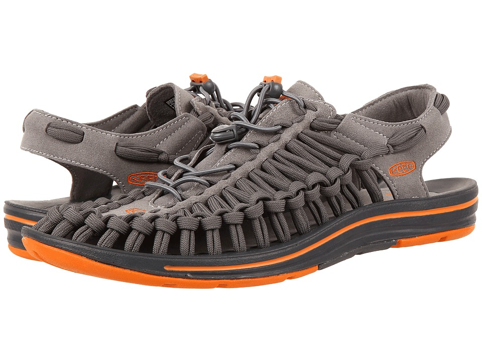 Keen - Uneek Flat (Gargoyle/Burnt Orange) Men's Shoes