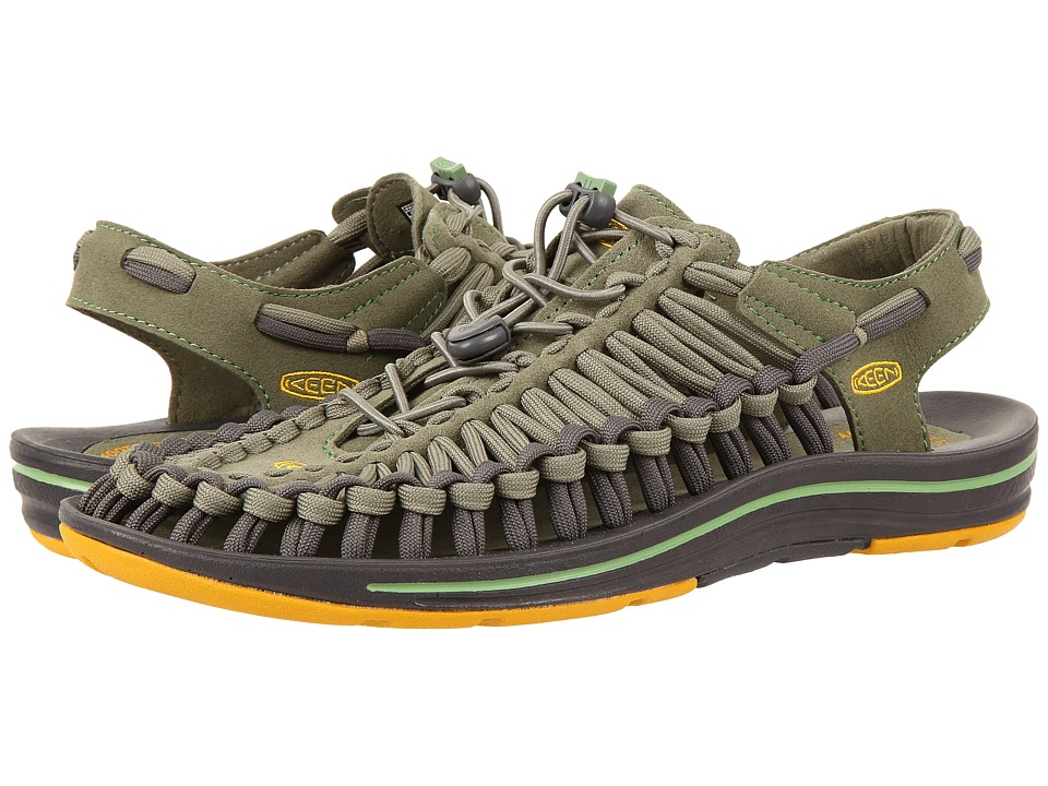 Keen - Uneek Flat (Deep Lichen/Golden Yellow) Men's Shoes