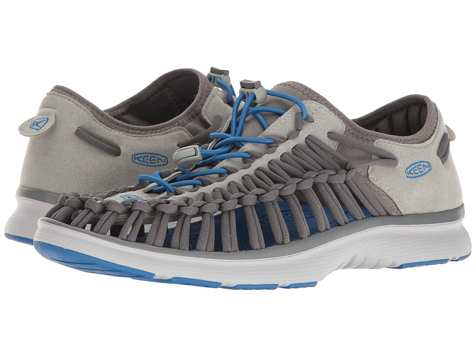 Keen - Uneek O2 (Neutral Gray/Imperial Blue) Men's Shoes