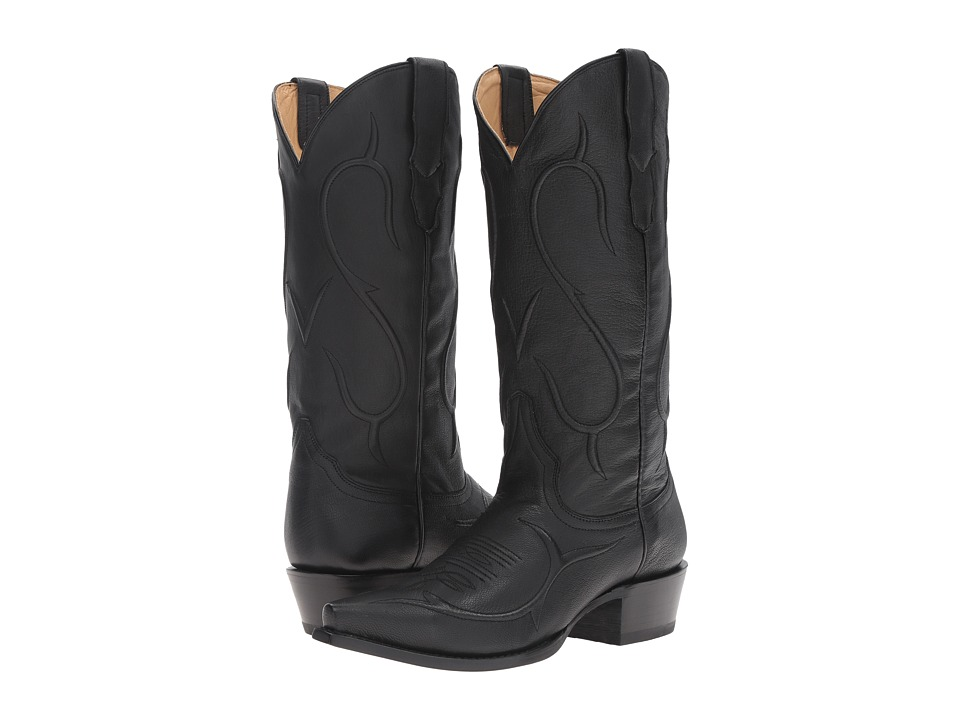 Stetson Carly (Black Goat) Cowboy Boots