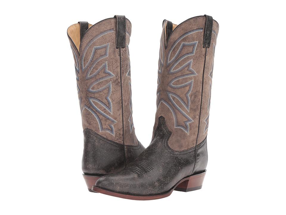 Stetson Gunsmoke (Distressed Black) Cowboy Boots
