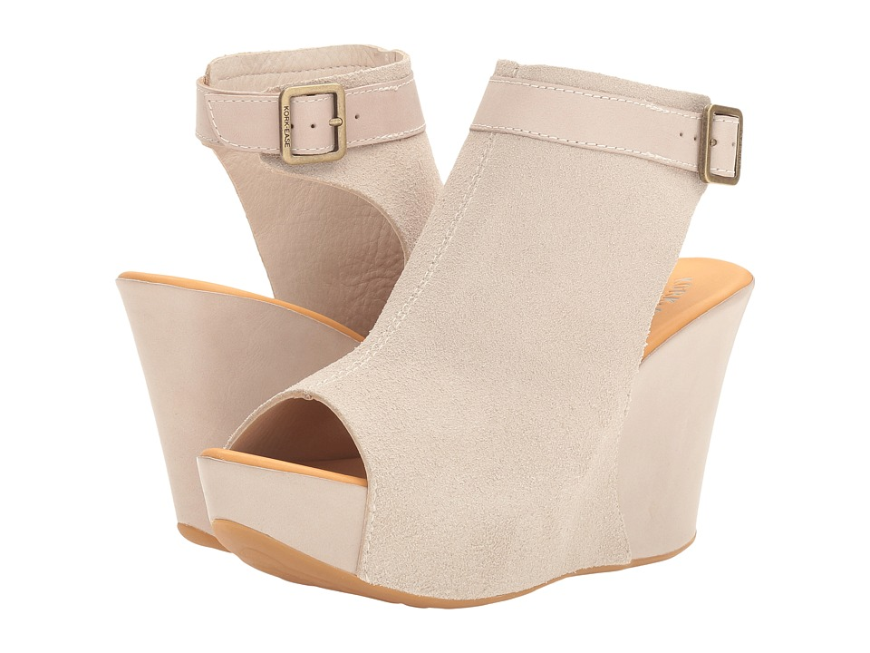Kork-Ease - Berit (Light Grey/Natural Combo) Women's Wedge Shoes