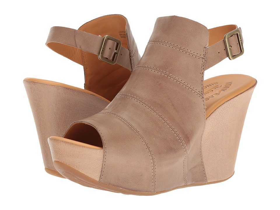 Kork-Ease - Bergen (Taupe/Natural Full Grain Combo) Women's Wedge Shoes