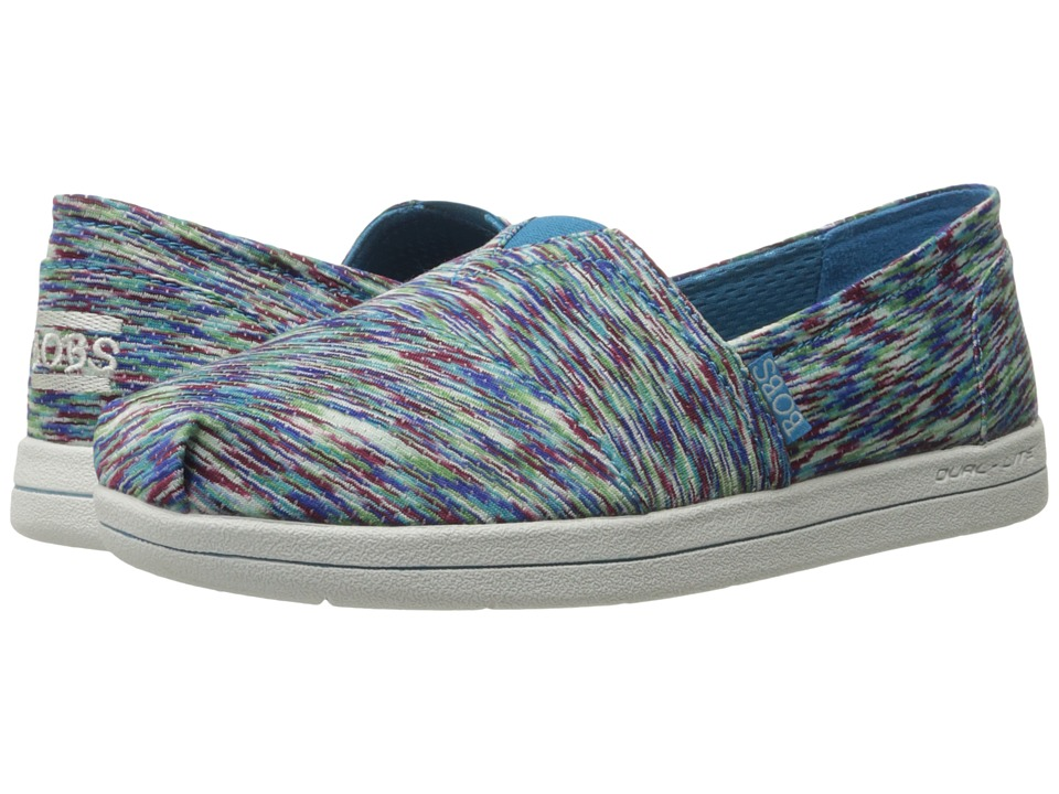 BOBS from SKECHERS - Super Plush (Blue/Multi) Women's Slip on Shoes