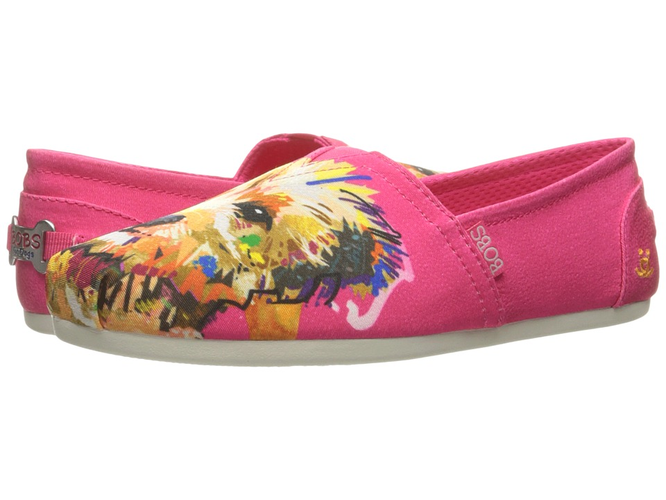 BOBS from SKECHERS - Bobs Plush - Paw-fection (Fuschia) Women's Shoes