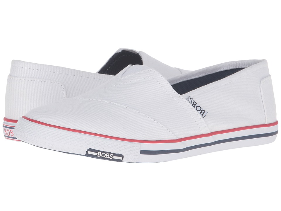 BOBS from SKECHERS Lo-topia Pleasantville (White/Navy/Red) Women