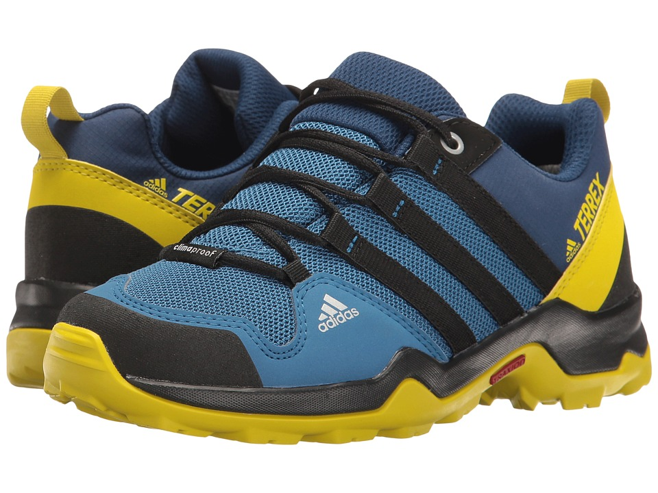 adidas Outdoor Kids - Terrex AX2R CP (Little Kid/Big Kid) (Core Blue/Black/Unity Lime) Boys Shoes