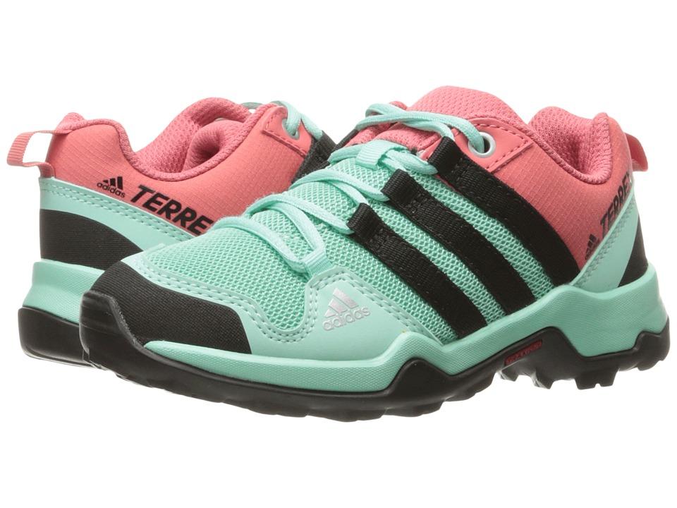 adidas Outdoor Kids - Terrex AX2R (Little Kid/Big Kid) (Easy Green/Black/Tactile Pink) Girls Shoes