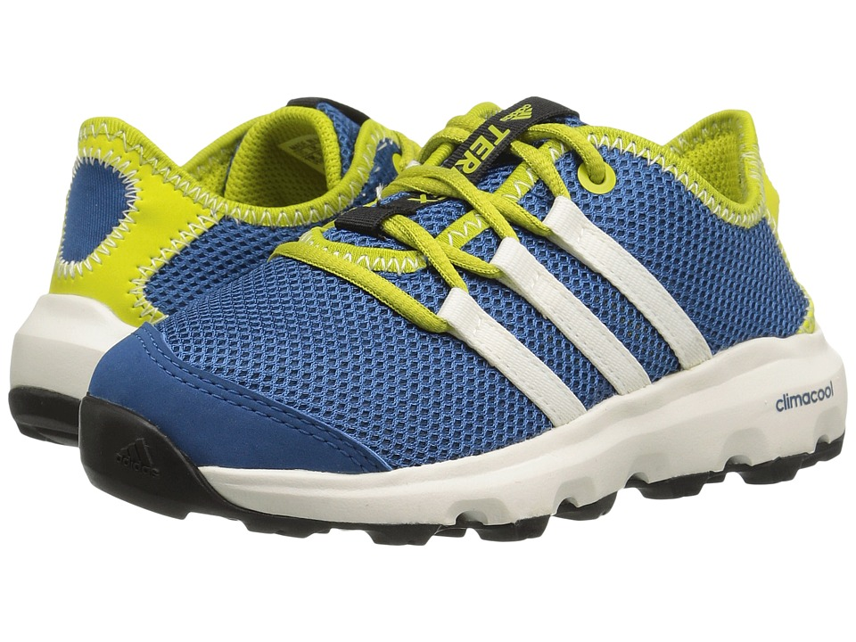 adidas Outdoor Kids - Terrex Climacool Voyager (Little Kid/Big Kid) (Core Blue/Chalk White/Unity Lime) Boys Shoes