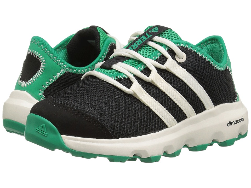 adidas Outdoor Kids - Terrex Climacool Voyager (Little Kid/Big Kid) (Black/Chalk White/Core Green) Boys Shoes