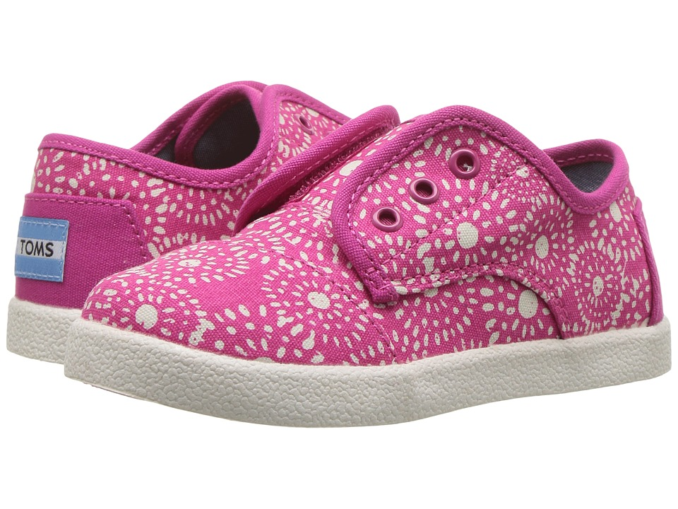 TOMS Kids - Paseo Sneaker (Infant/Toddler/Little Kid) (Fuchsia Shibori Dots) Girls Shoes