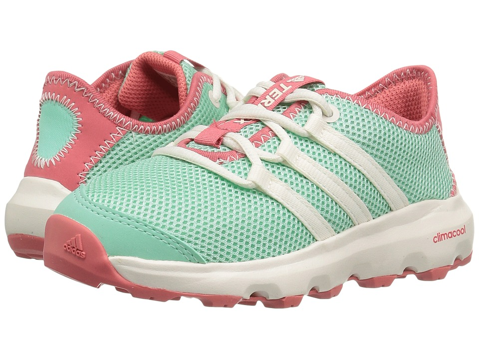 adidas Outdoor Kids Terrex Climacool Voyager (Little Kid/Big Kid) (Easy Green/Chalk White/Tactile Pink) Girls Shoes
