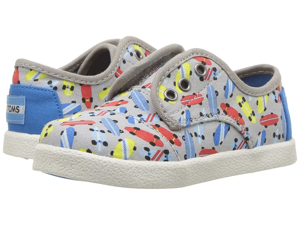 TOMS Kids - Paseo Sneaker (Infant/Toddler/Little Kid) (Drizzle Grey Skateboards) High Heels