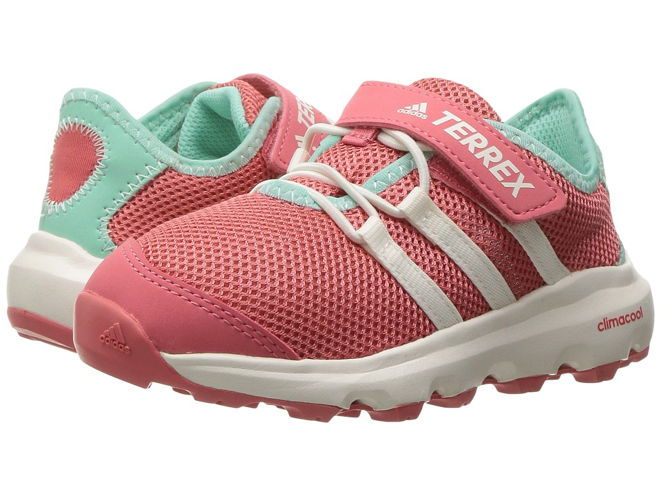 adidas Outdoor Kids - Terrex Climacool Voyager CF (Little Kid/Big Kid) (Tactile Pink/Chalk White/Easy Green) Girls Shoes