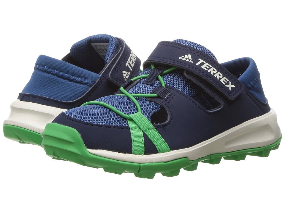 adidas Outdoor Kids Terrex Tivid Shandal CF (Little Kid/Big Kid) (Core Blue/Collegiate Navy/Energy Green) Boys Shoes
