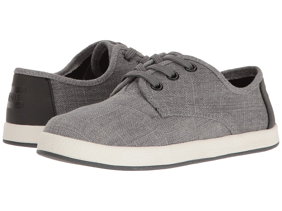 TOMS Kids - Paseo Sneaker (Little Kid/Big Kid) (Forged Iron Grey Colored Denim) Kids Shoes