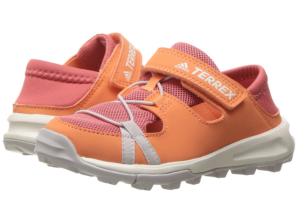 adidas Outdoor Kids - Terrex Tivid Shandal CF (Little Kid/Big Kid) (Easy Orange/Tactile Pink/Ice Purple) Girls Shoes