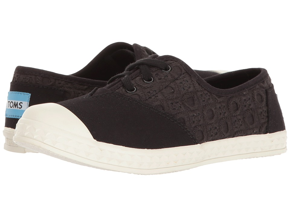 TOMS Kids - Zuma Sneaker (Little Kid/Big Kid) (Black Eyelet) Kids Shoes