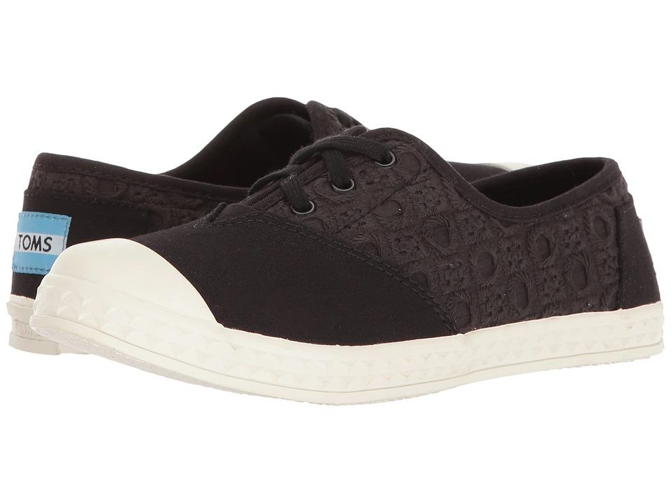 TOMS Kids - Zuma Sneaker (Little Kid/Big Kid) (Black Eyelet) Kids Shoes