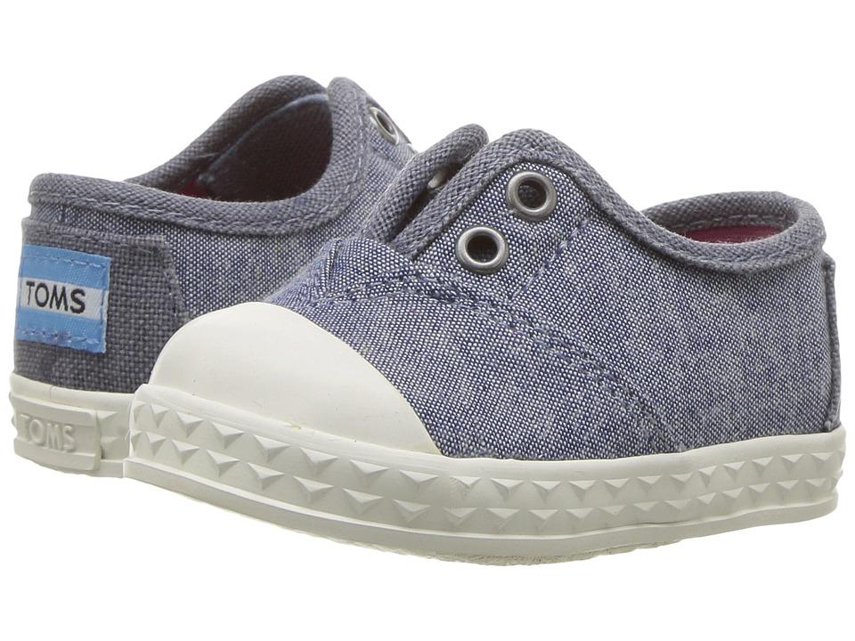 TOMS Kids - Zuma Sneaker (Infant/Toddler/Little Kid) (Red Canvas) Kids Shoes