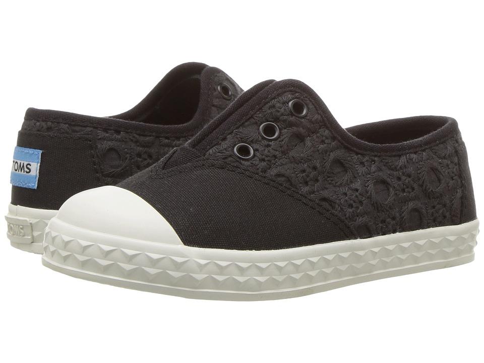 TOMS Kids - Zuma Sneaker (Infant/Toddler/Little Kid) (Black Eyelet) Kids Shoes