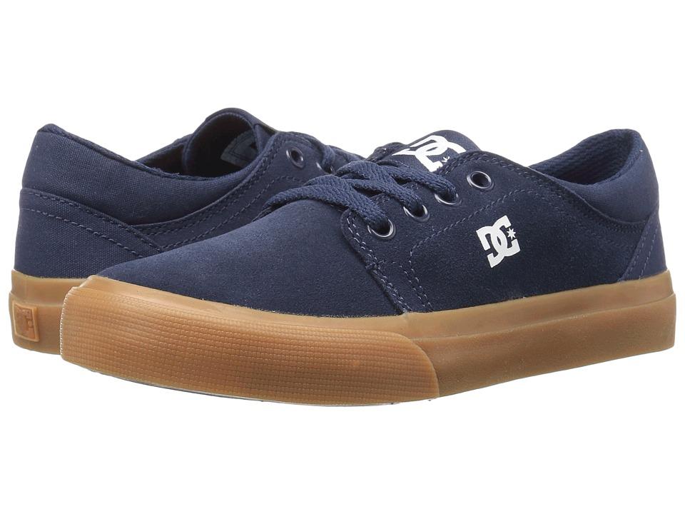 DC Kids Trase (Little Kid/Big Kid) (Navy/Gum) Boys Shoes