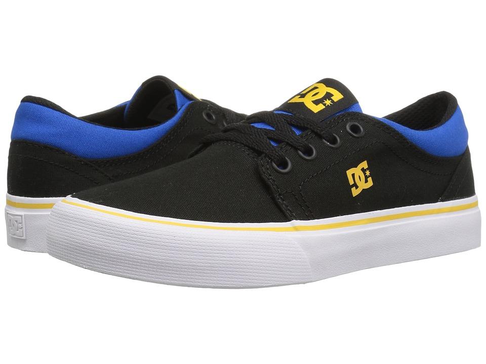 DC Kids - Trase TX (Little Kid/Big Kid) (Black/Blue/Grey) Boys Shoes