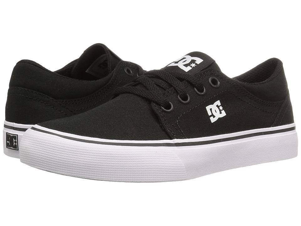 DC Kids - Trase TX (Little Kid/Big Kid) (Black/White) Boys Shoes