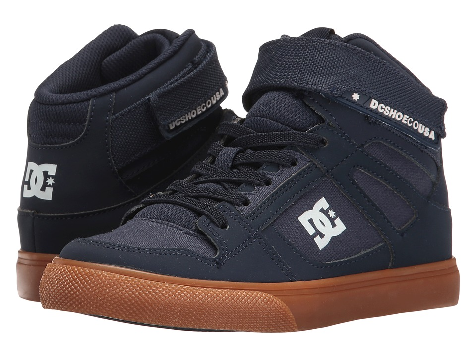DC Kids - Spartan High EV (Little Kid/Big Kid) (Navy/Gum) Boys Shoes