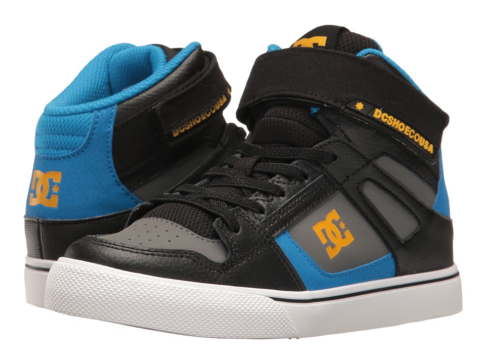 DC Kids - Spartan High EV (Little Kid/Big Kid) (Black/Blue/Grey) Boys Shoes