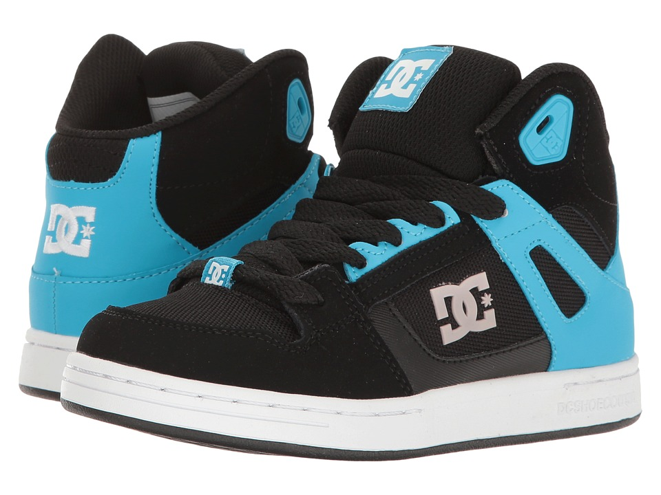 DC Kids - Rebound SE (Little Kid/Big Kid) (Black/Blue) Boys Shoes