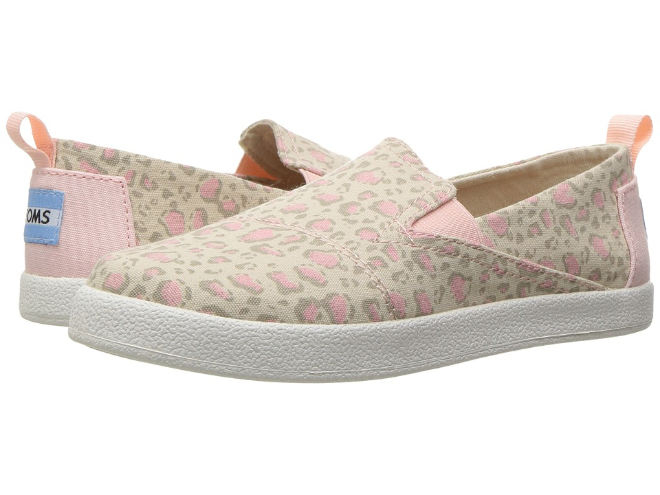 TOMS Kids - Avalon Slip-On (Little Kid/Big Kid) (Pale Pink Bob Cat) Girls Shoes