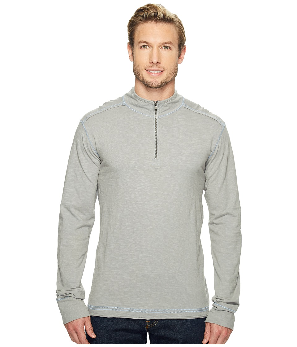 Ecoths - Black Rock 3/4 Zip Shirt (Griffin Grey) Men's Long Sleeve Pullover