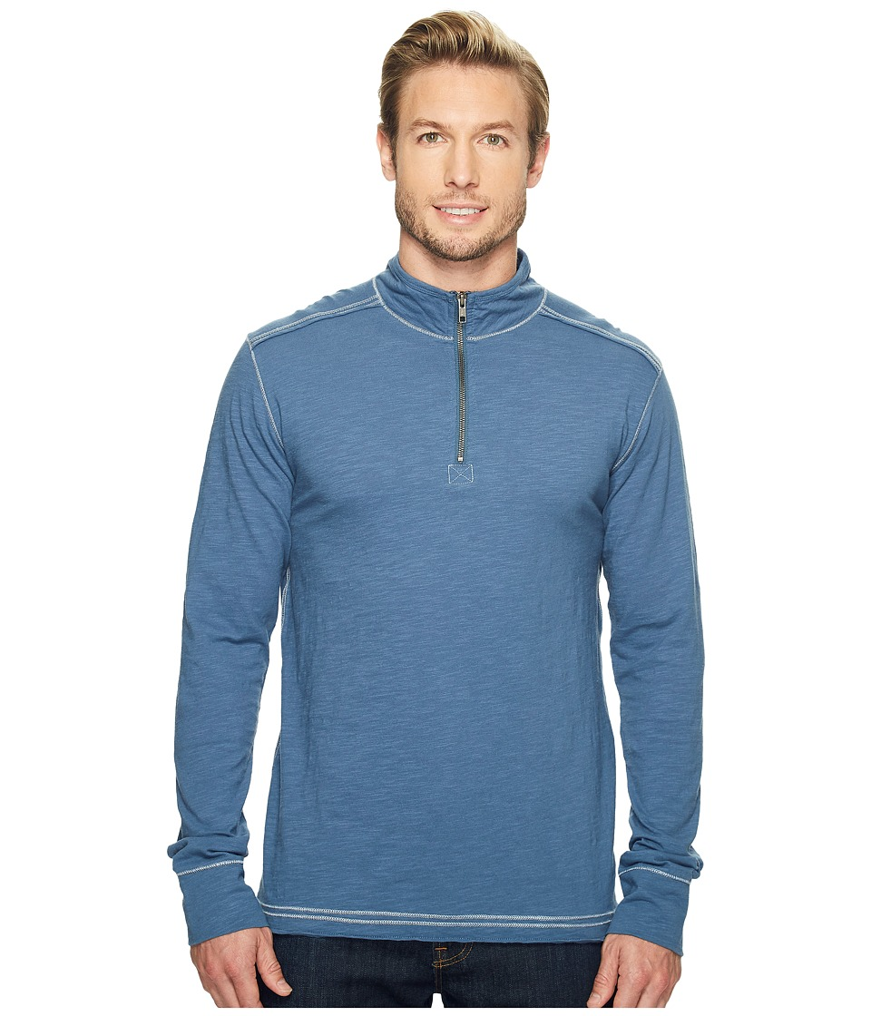 Ecoths - Black Rock 3/4 Zip Shirt (Bering Sea) Men's Long Sleeve Pullover