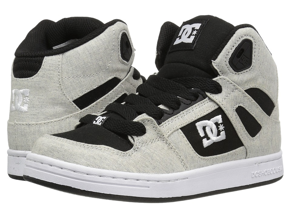 DC Kids - Rebound TX SE (Little Kid/Big Kid) (Black/White/Black) Boys Shoes