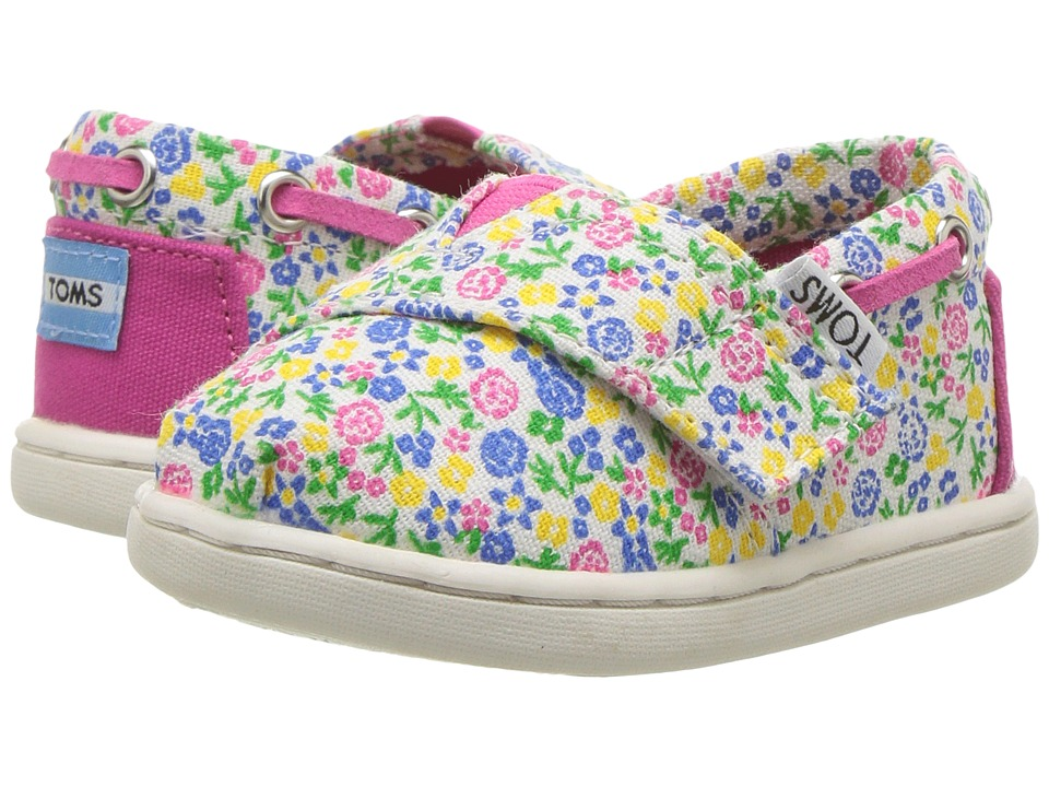 TOMS Kids - Bimini Espadrille (Infant/Toddler/Little Kid) (Fuchsia Multi Floral) Girls Shoes