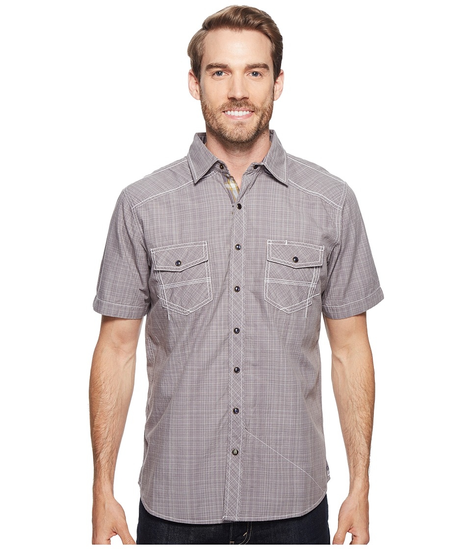 Ecoths - Somersett Short Sleeve Shirt (Griffin Grey) Men's Short Sleeve Button Up