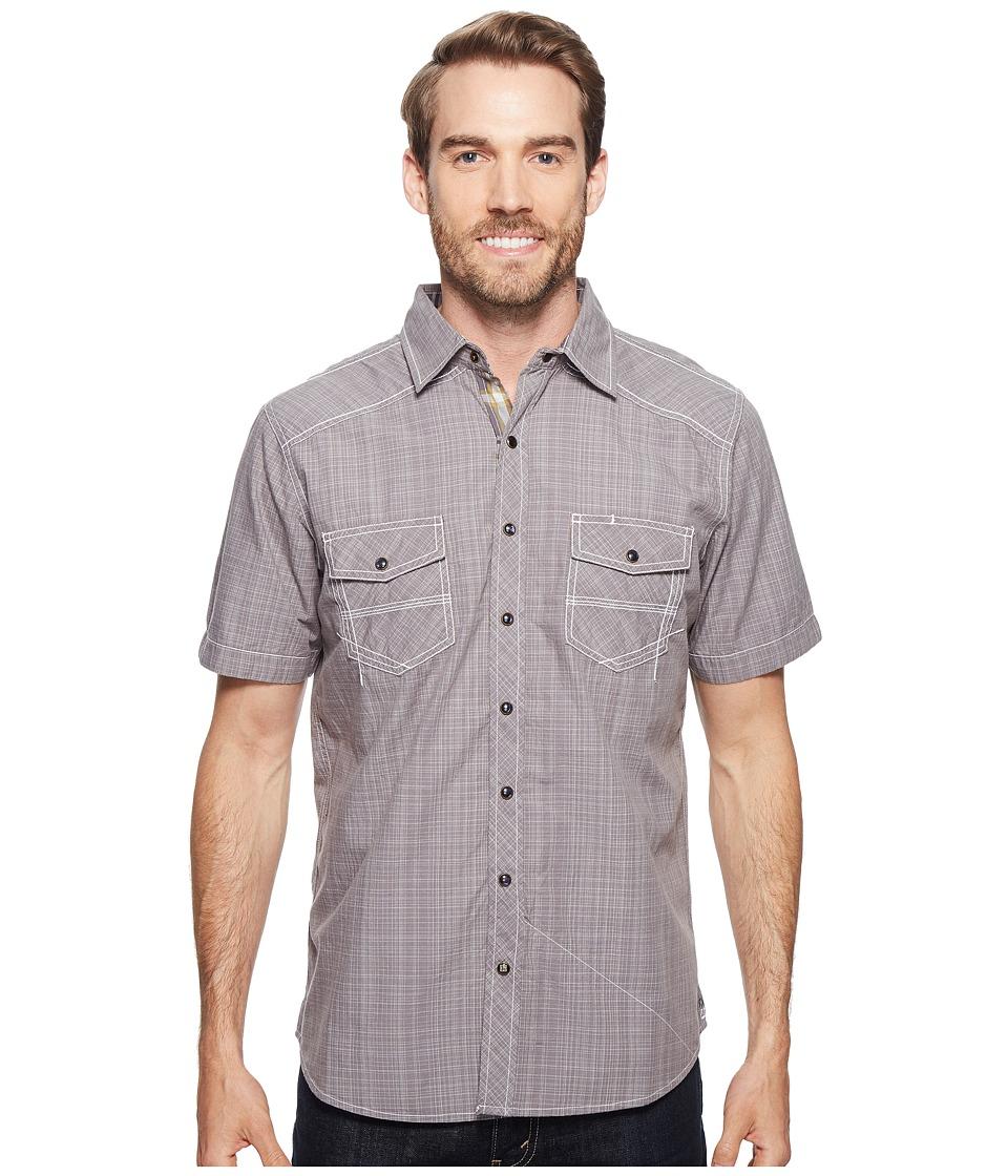 Ecoths - Somersett Short Sleeve Shirt (Griffin Grey) Men's Short Sleeve Button Up