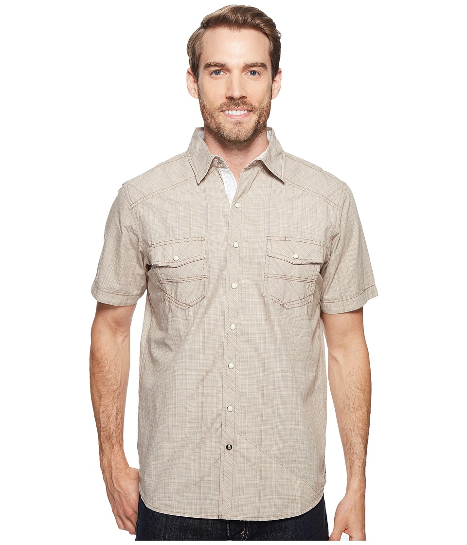 Ecoths - Somersett Short Sleeve Shirt (Brindle) Men's Short Sleeve Button Up