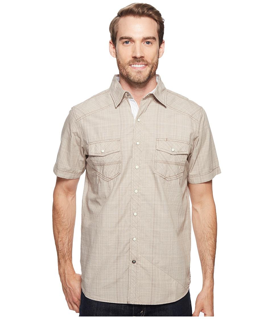 Ecoths - Somersett Short Sleeve Shirt (Brindle) Men's Short Sleeve Button Up