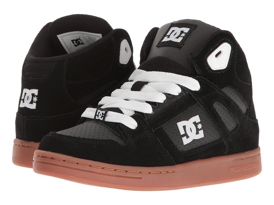 DC Kids - Rebound (Little Kid/Big Kid) (Black/Gum) Boys Shoes